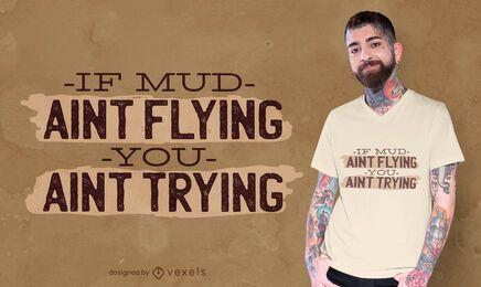 Diseño de camiseta de cita de moto