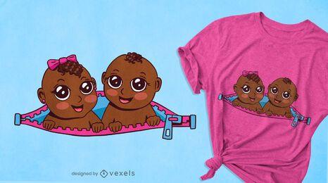 Design de camisetas bebê gêmeos