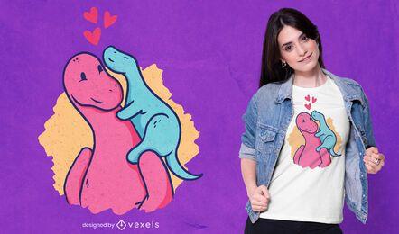 Design de camiseta para mãe de dinossauro