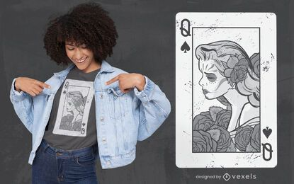 Poker woman t-shirt design
