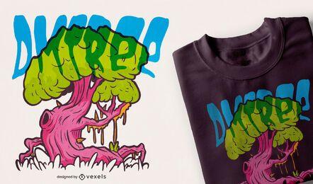 Diseño de camiseta de árbol DMT