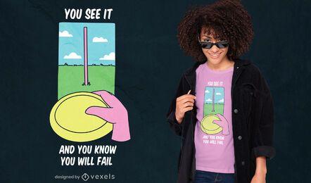 Diseño de camiseta con cita de frisbee