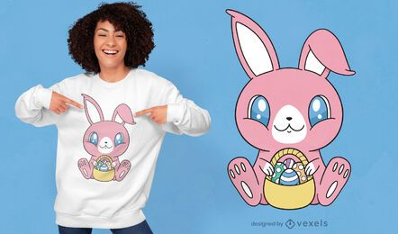 Cute easter rabbit t-shirt design