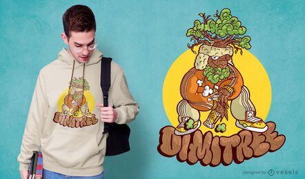 Divertido diseño de camiseta eslava.