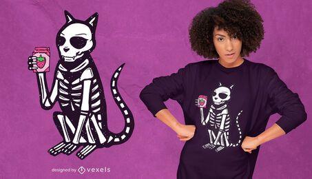 Xray cat t-shirt design