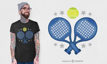Padel rackets t-shirt design