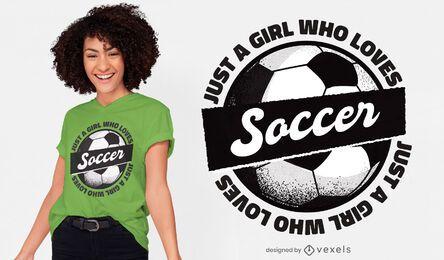 Design de camiseta para garota de futebol
