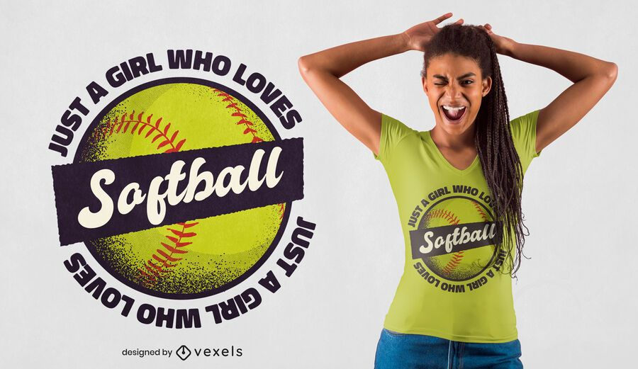 Softball girl t-shirt design
