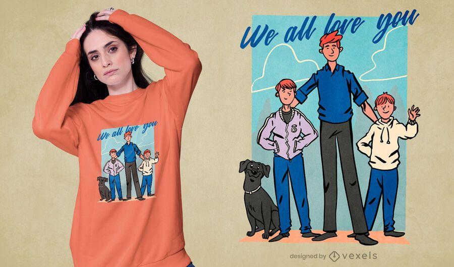 Ginger family t-shirt design