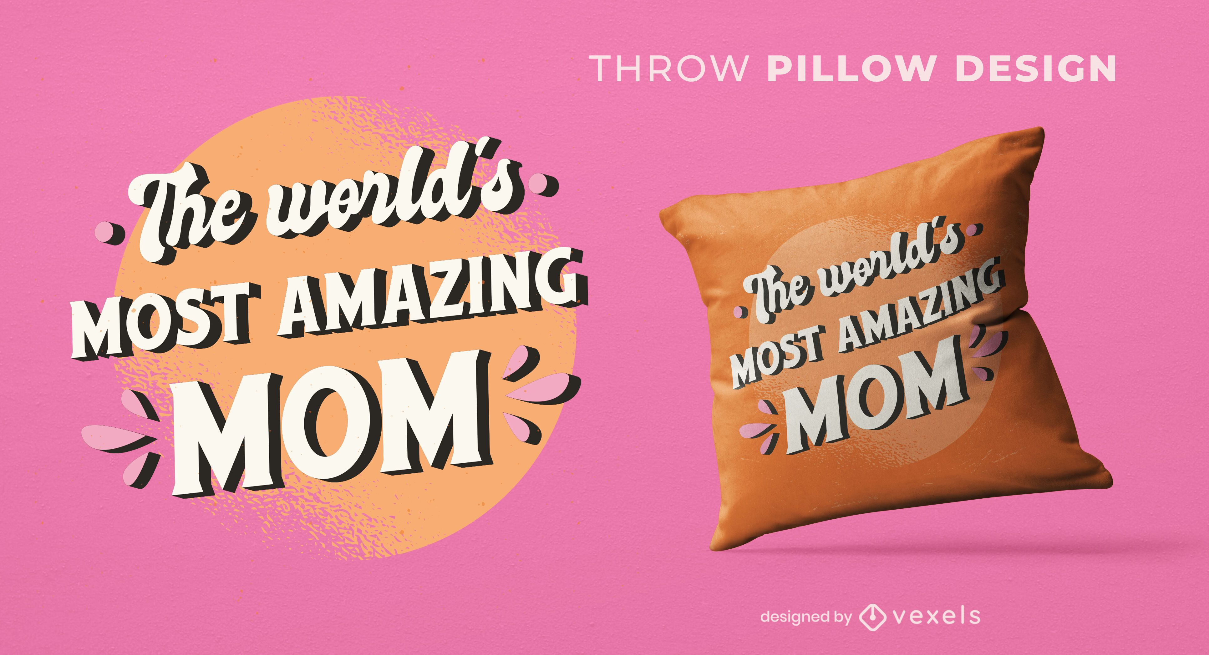 Most amazing mom throw pillow design