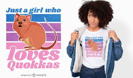 Quokka girl quote t-shirt design