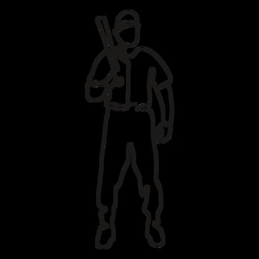 BaseballPlayers_ContinuousContourLine - 7