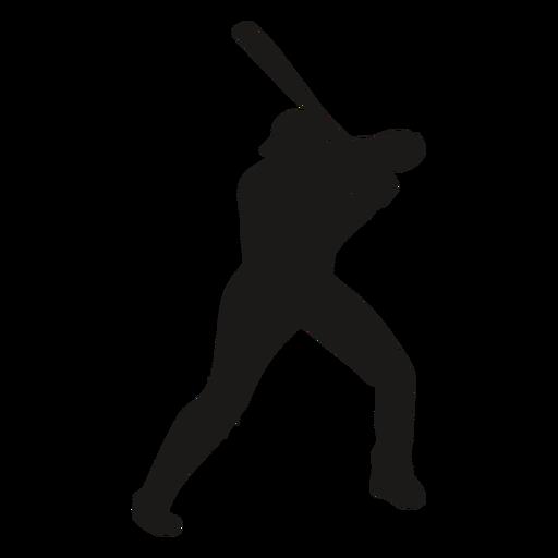 Baseball player silhouette batting