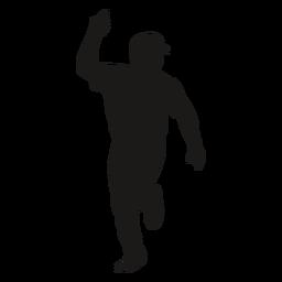 Running baseball player silhouette