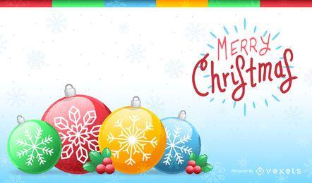 Navidad Ornaments Fondo