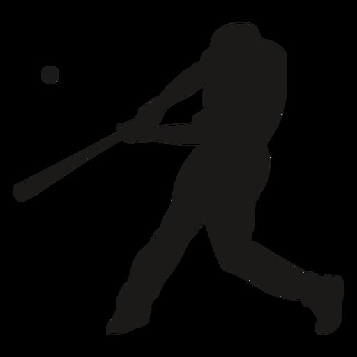Batting baseball player silhouette