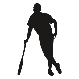 Batter standing with bat silhouette