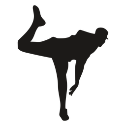 Baseball pitcher frontal silhouette
