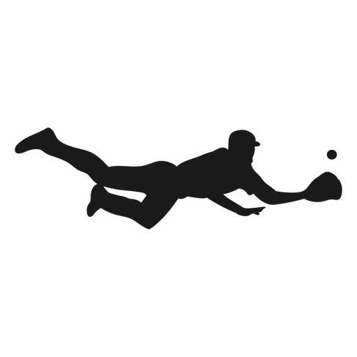 Jumping catcher silhouette