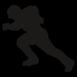 Running side baseball player