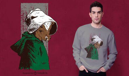 Design de t-shirt com paródia de vaca servida