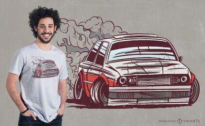 Car motorsport drifting t-shirt design
