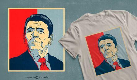 Design de t-shirt de esperança de Ronald Reagan