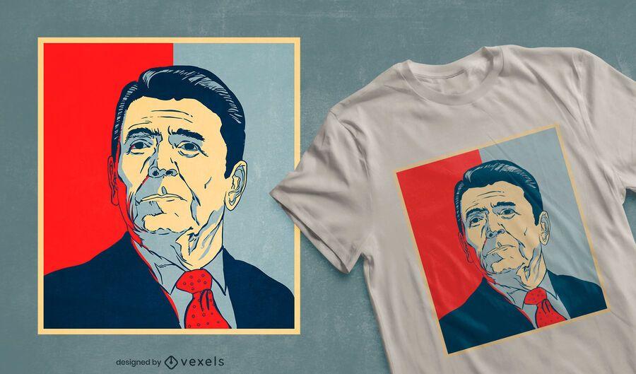 Ronald Reagan hope t-shirt design