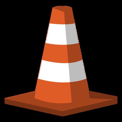 Traffic cone semi flat