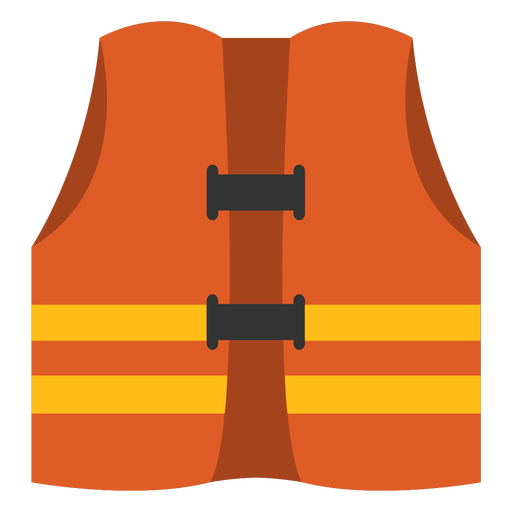 Safety vest semi flat