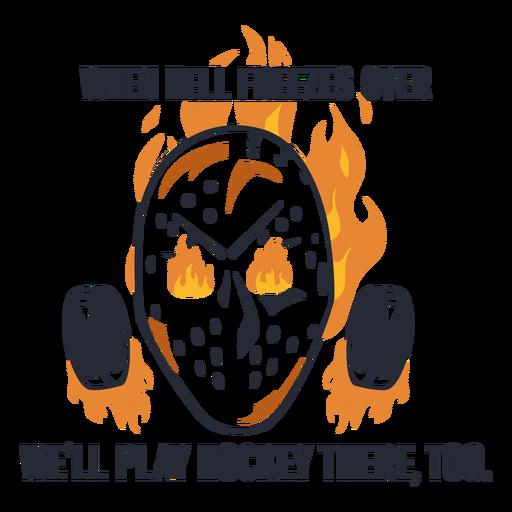 Ice hockey helmet badge quote flat