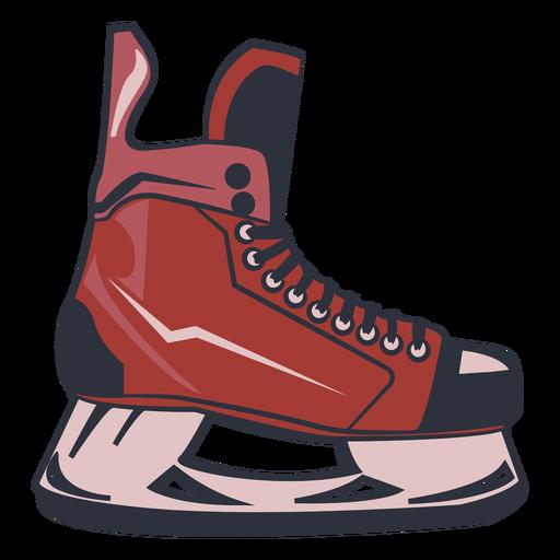 Ice hockey skate illustration