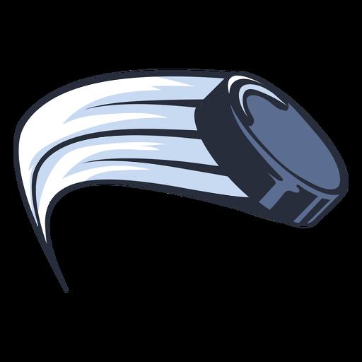 Hockey puck in movement illustration