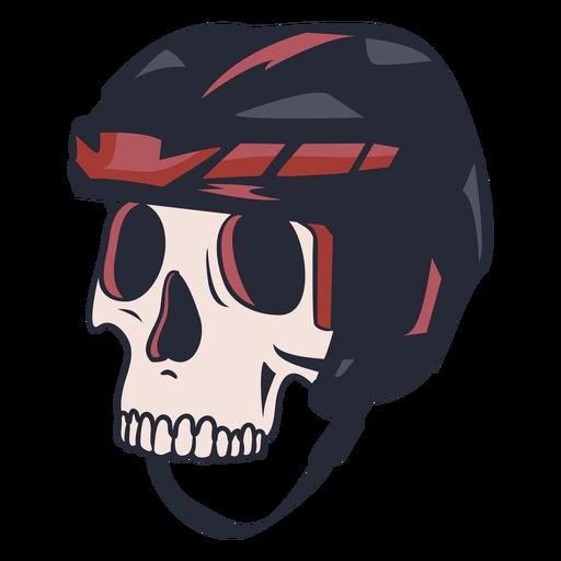 Skull with hockey helmet illustration