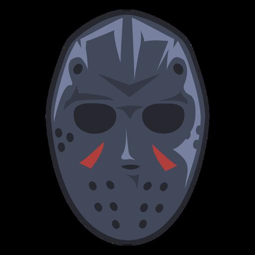 Ice hockey mask illustration