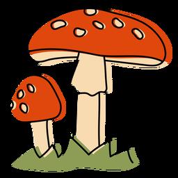 Red mushrooms nature