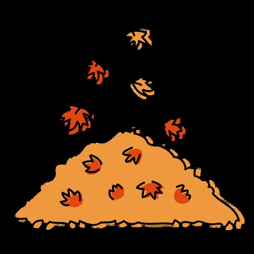Autumn leaves pile