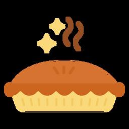 Sparkly pie flat