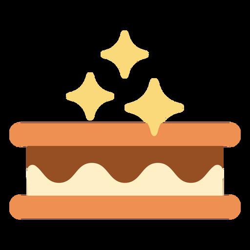Sparkly ice cream sandwich flat