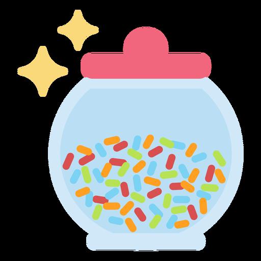 Sparkly candy jar flat