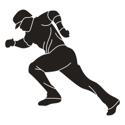 Baseball player running cut out