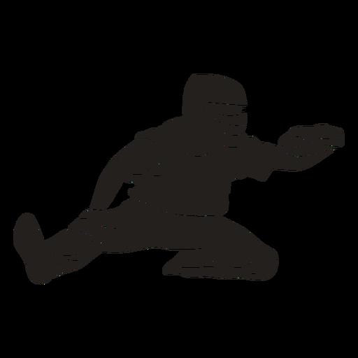 Cricket player catcher cut out