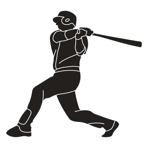 Cricket player batting cut out