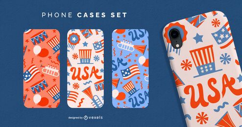 Independence day phone case set