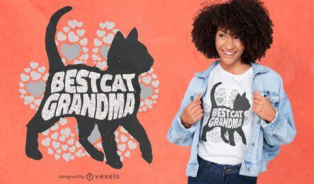 Melhor design de t-shirt de vovó de gato