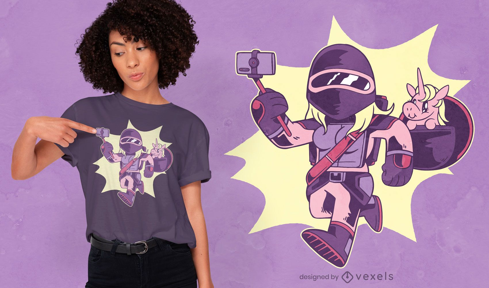 Warrior girl t-shirt design