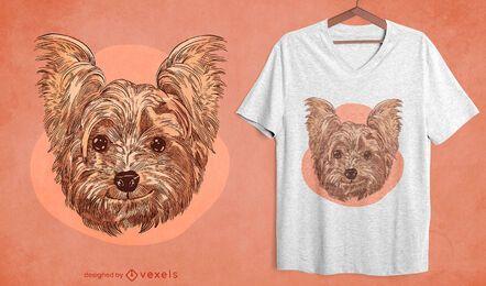 Diseño de camiseta de perro sonriente.