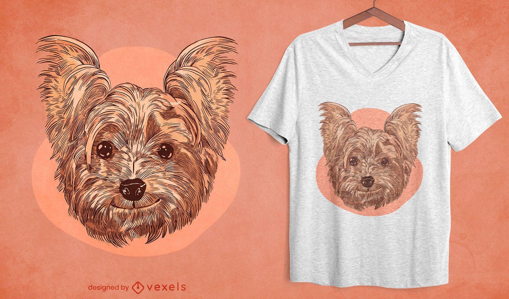 Dog smiling t-shirt design