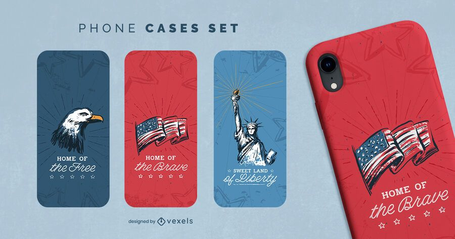 Fourth of july phone case set