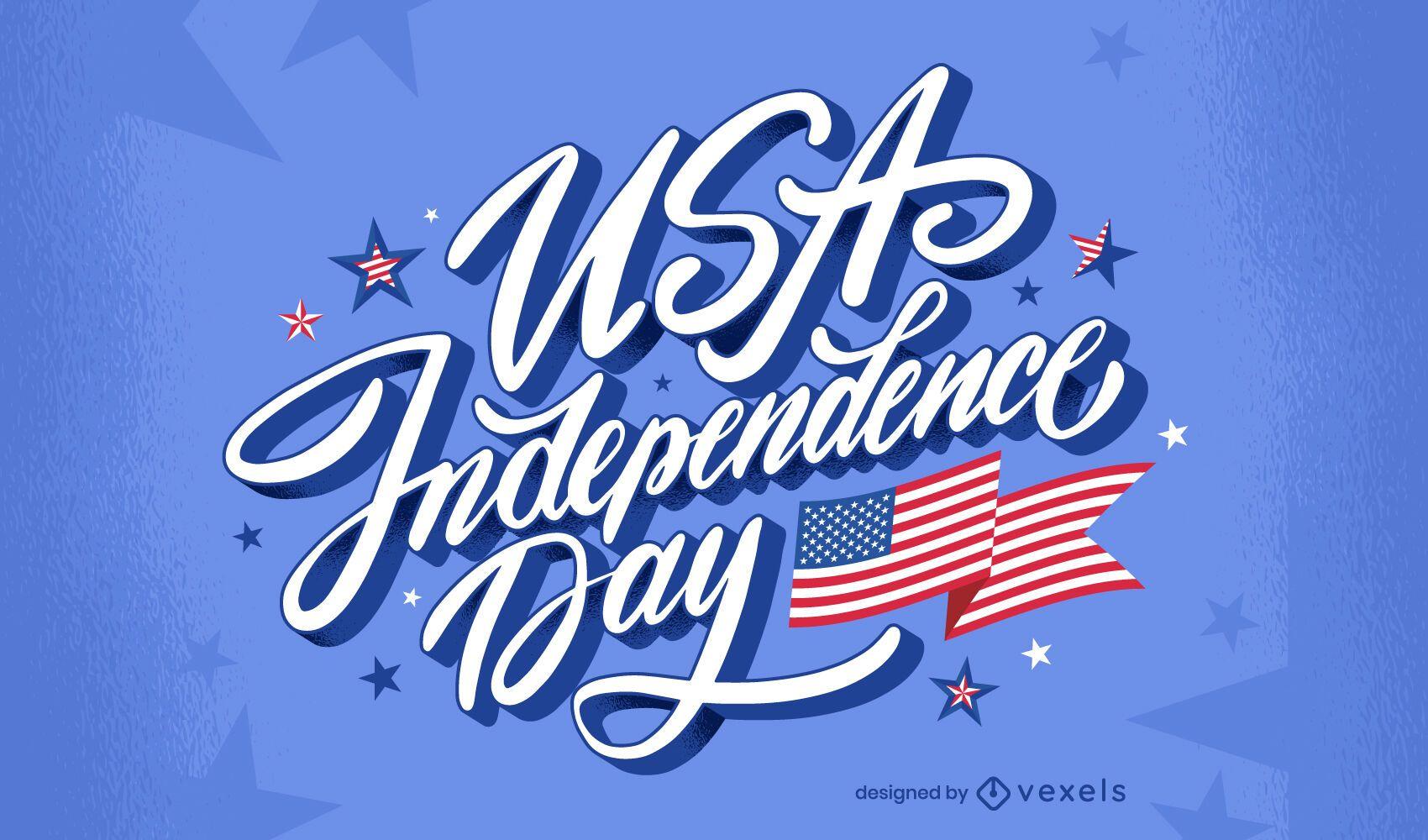 Letras de celebração do dia da independência dos EUA